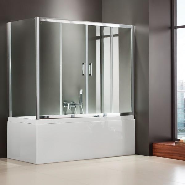 Είδη Υγιεινής - AXIS BATH SLIDER (2+2) SLB2X 170 CLEAR ΚΑΜΠΙΝΑ ΜΠΑΝΙΕΡΑΣ ΕΙΔΗ ΥΓΙΕΙΝΗΣ