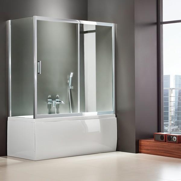 Είδη Υγιεινής - AXIS BATH SLIDER (1+1) SLBX 150 CLEAR ΚΑΜΠΙΝΑ ΜΠΑΝΙΕΡΑΣ ΕΙΔΗ ΥΓΙΕΙΝΗΣ